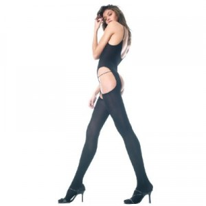 Opaque Body Stocking Bodysuit