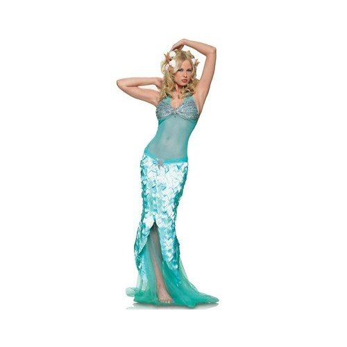 Glittery Mermaid Mesh Halter Dress