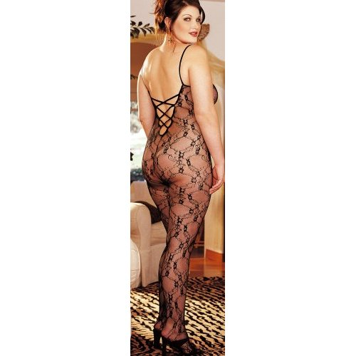 Plus Size Stretch Lace Body Stocking by Shirley of Hollywood