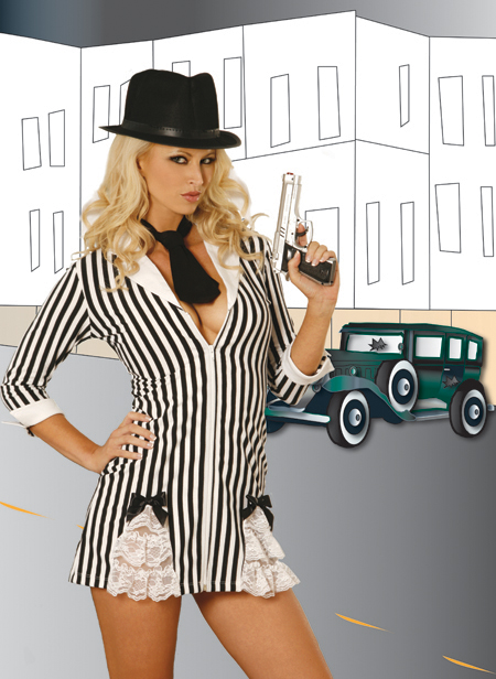 Gangster Girl 3-Piece Costume